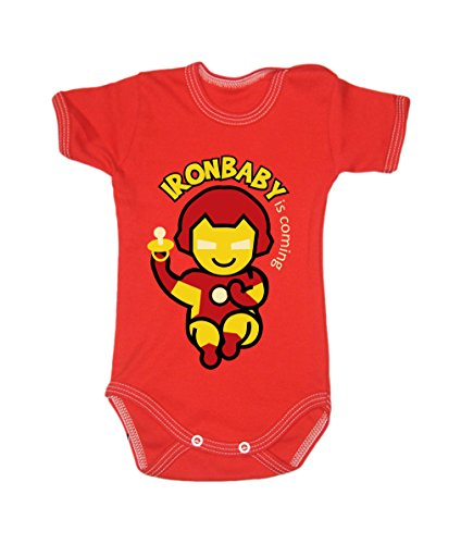 Colour Fashion Baby Ironman Bodysuits 0 - 24 months (9-12 months , 80 cm, Red) from Colour Fashion