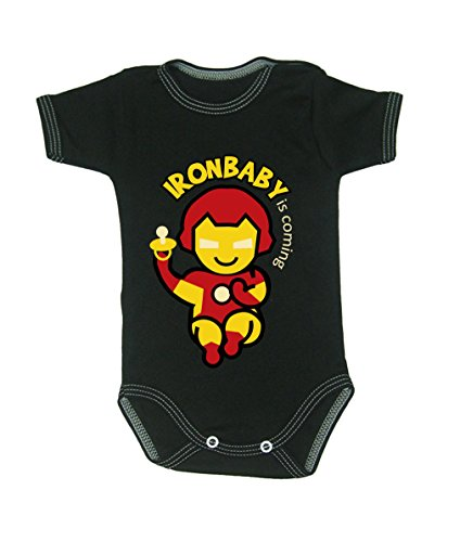 Colour Fashion Baby Ironman Bodysuits 0 - 24 months (newborn , 56 cm, Black) from Colour Fashion