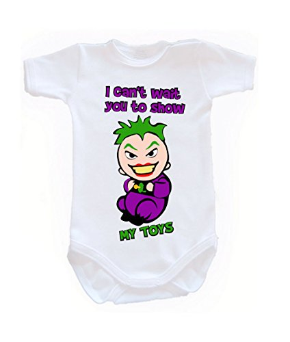 Colour Fashion Baby Joker Bodysuits Shortsleeve 100% Cotton 0 - 24 months 0006 (0-3 months, 62 cm, White) from Colour Fashion