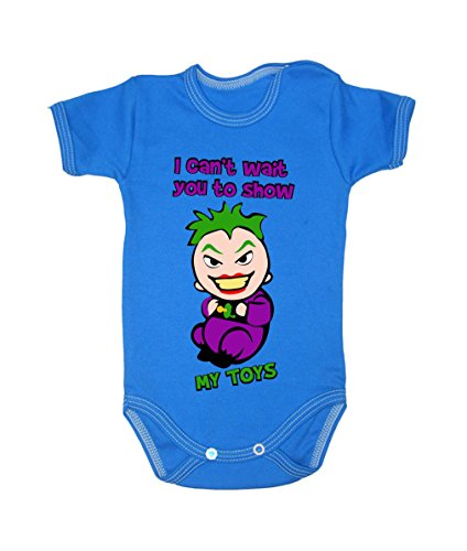 Colour Fashion Baby Joker Bodysuits Shortsleeve 100% Cotton 0 - 24 months 0006 (3-6 months, 68 cm, Blue) from Colour Fashion