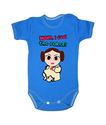 Colour Fashion Baby Leia Bodysuits Shortsleeve 100% Cotton 0 - 24 months 0013 (6-9 months, 74 cm, Blue) from Colour Fashion