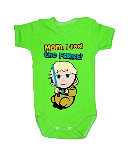 Colour Fashion Baby Luke Bodysuits Shortsleeve 100% Cotton 0 - 24 months 0013 (6-9 months, 74 cm, Green) from Colour Fashion