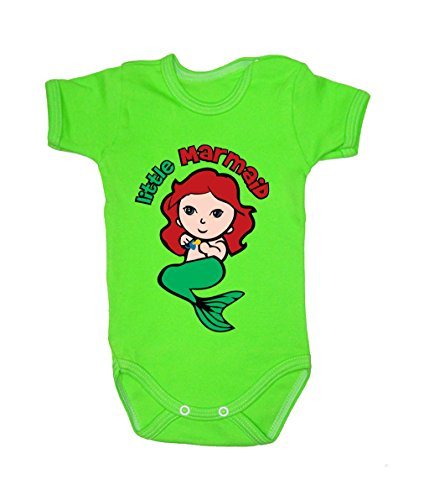 Colour Fashion Baby Marmaid Bodysuits Shortsleeve 100% Cotton 0 - 24 months 0011 (9-12 months, 80cm, Green) from Colour Fashion