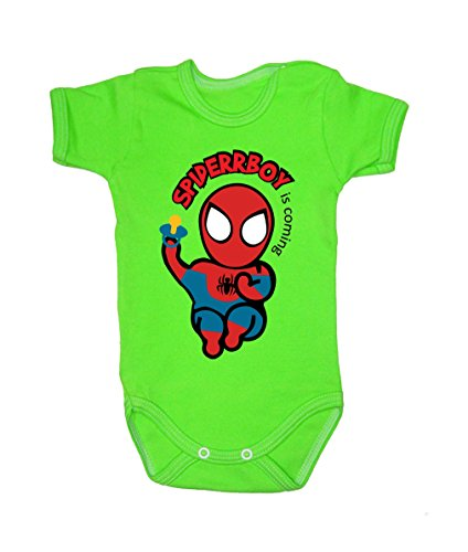 Colour Fashion Baby Spiderman Bodysuits Shortsleeve 100% 0 - 24 months 0003 (6-9 months, 74 cm, Green) from Colour Fashion