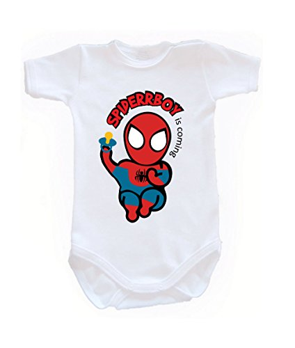 Colour Fashion Baby Spiderman Bodysuits Shortsleeve 100% 0 - 24 months 0003 (9-12 months, 80 cm, White) from Colour Fashion
