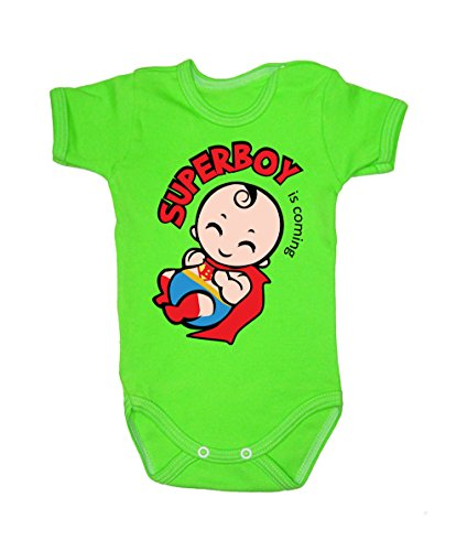 Colour Fashion Baby Superman Bodysuits Shortsleeve 100% 0 - 24 months (18-24 months, 92 cm, Green) from Colour Fashion