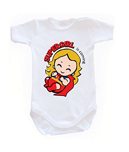 Colour Fashion Baby Superwoman Bodysuits Shortsleeve 100% Cotton 0 - 24 months 0010 (12-18 months, 86 cm, White) from Colour Fashion