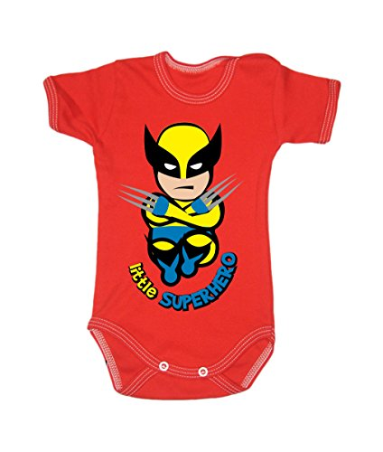 Colour Fashion Baby Wolverine Bodysuits Shortsleeve 100% Cotton 0 - 24 months 0007 (9-12 months, 80 cm, Red) from Colour Fashion