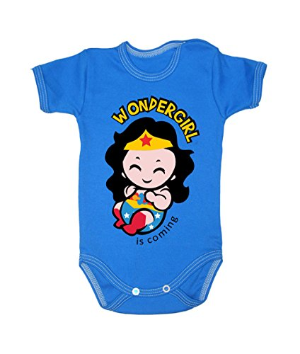 Colour Fashion Baby Wonderwoman Bodysuits Shortsleeve 100% 0 - 24 months 0004 (9-12 months, 80 cm, Blue) from Colour Fashion