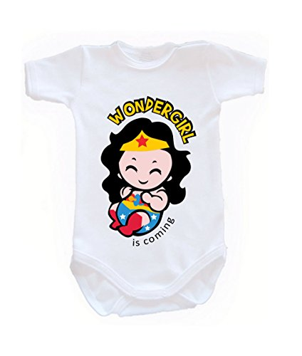 Colour Fashion Baby Wonderwoman Bodysuits Shortsleeve 100% 0 - 24 months 0004 (newborn, 56 cm, White) from Colour Fashion