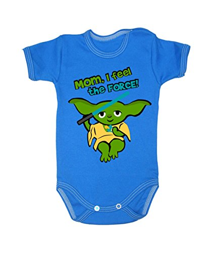 Colour Fashion Baby Yoda Bodysuits Shortsleeve 100% Cotton 0 - 24 months 0012 (18-24 months, 92 cm, Blue) from Colour Fashion