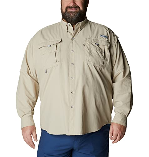 Columbia Men's Bahama II Long Sleeve Shirt, Fossil, Large from Columbia