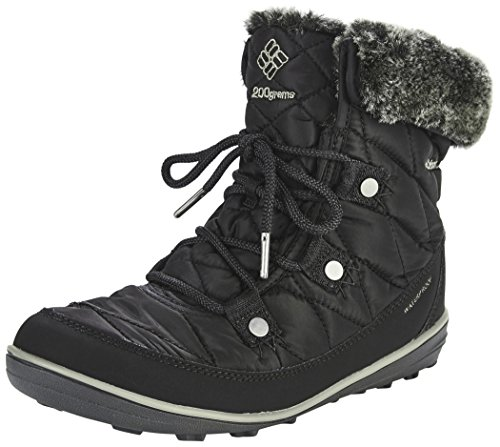 Columbia Women's Heavenly Shorty Omni-heat Winter Boots, Black (Black, Kettle), 4 UK 37 EU from Columbia