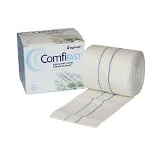 COMFIFAST ELASTICATED VISCOSE TUBULAR BANDAGE BLUE LINES 7.5CMX5M (FOR LARGE LIMBS) - 7.5CMX5M from Comfifast