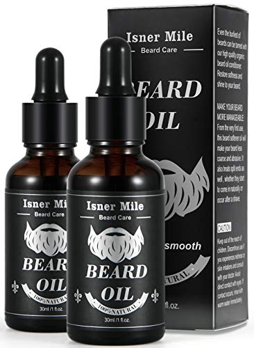 BEST CHOICE 2 Pack Beard Castor Oil Serum Conditioner for Men Beard Mustaches Growth, Soften, Moisturizing & Strengthen - 100% Pure Natural Organic Ingredients (Light Magic Scent) from Comfy Mate