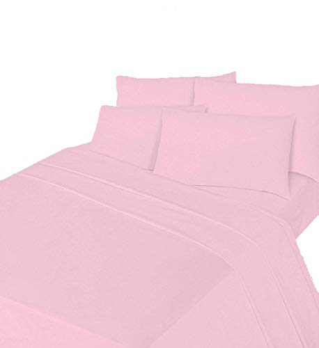 Comfy Nights Brushed Thermal Cotton Flannelette Fitted Sheet or Pillow Pair, Pillow Pair - Pink from Comfy Nights