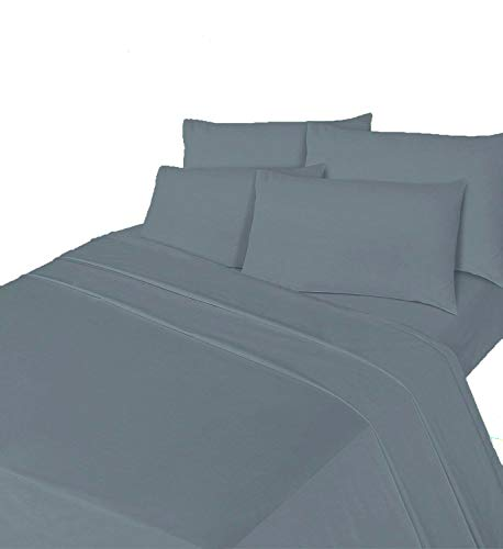 Comfy Nights Brushed Thermal Cotton Flannelette Fitted Sheet or Pillow Pair, Double - Grey from Comfy Nights