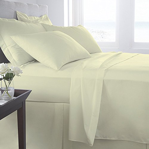 Comfy Nights 400 Thread Count Sateen Egyptian Cotton Fitted Sheets Or Pillow Pair (Cream, Single) from Comfy Nights