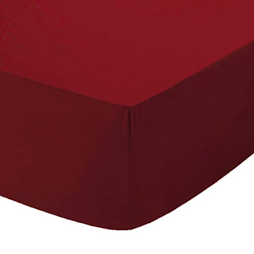 Comfy Nights polycotton fitted sheet Small Double/4Ft - Wine/Burgundy from Comfy Nights