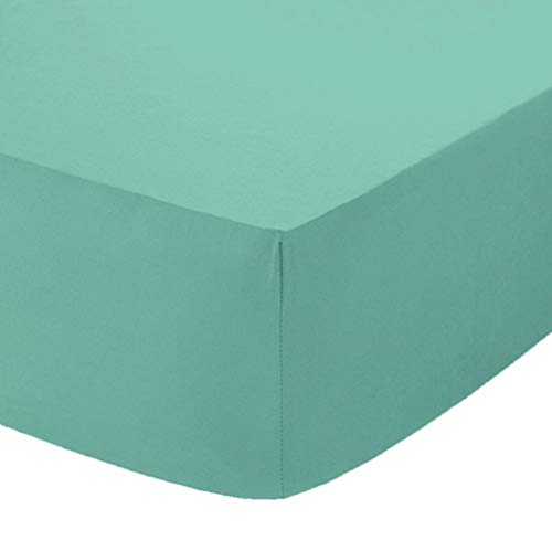 Comfy Nights Extra Deep 40Cm PolyCotton Easy Care Pecale Fitted Sheet Or Pillow Pair, Double - Mint Green from Comfy Nights