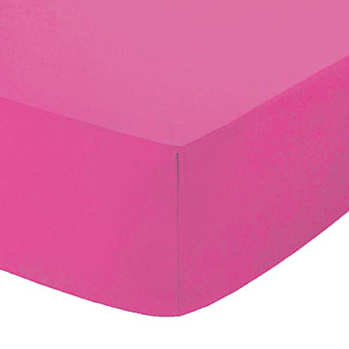 Comfy Nights Extra Deep 40Cm PolyCotton Easy Care Pecale Fitted Sheet Or Pillow Pair, King - Fuschia from Comfy Nights