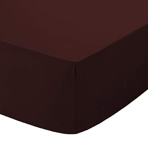 Comfy Nights Extra Deep 40Cm PolyCotton Easy Care Pecale Fitted Sheet Or Pillow Pair, Super King - Chocolate/Brown from Comfy Nights