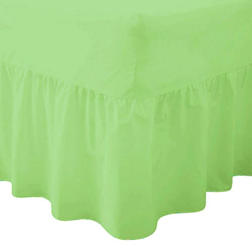 Comfy Nights Plain Dyed Polycotton Easy Care Valance Fitted Sheet In 19 Colors (Double, Mint Green) from Comfy Nights