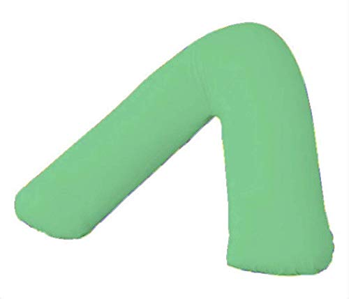 Comfy Nights Plain Dyed Polycotton V-Shaped Pillow Cases/Covers (Mint Green) from Comfy Nights
