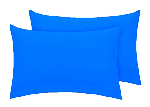 Comfy Nights Pollycotton Pair Of Pillow cases - Mid Blue from Comfy Nights