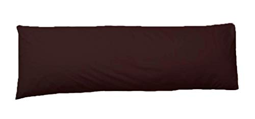 Comfy Nights Pollycotton Bolster Pillow Case Plain Dyed (4.6Ft (54 Inches), Chocolate/Brown) from Comfy Nights