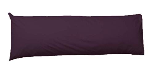 Comfy Nights Pollycotton Bolster Pillow Case Plain Dyed (4.6Ft (54 Inches), Plum) from Comfy Nights