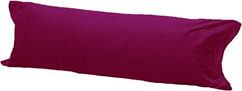 Comfy Nights Pollycotton Bolster Pillow Case Plain Dyed (5Ft (60 Inches), Burgandy/Wine) from Comfy Nights