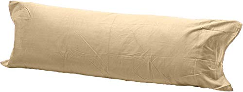 Comfy Nights Pollycotton Bolster Pillow Case Plain Dyed (5Ft (60 Inches), Mocha/Latte) from Comfy Nights
