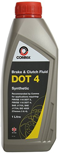 Comma BF41L 1L DOT 4 Brake and Clutch Fluid - Grey from Comma
