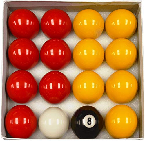"Homegames Pool Table Balls Pub RED & YELLOW 2"" UK Competition Set from Competition"