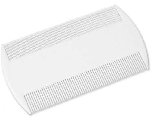 White Durable Double Sided Nit Combs for Head Lice Dectection Comb with Holder (also ideal for Pet Flea) its removes Nits, Lice and Fleas and eggs i.e. Grooming Hair Comb Fine Toothed Headlice Comb from Concept4u