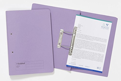 Exacompta Guildhall Spiral Files, 285 gsm, 355 x 250 mm - Mauve, Pack of 25 from Exacompta