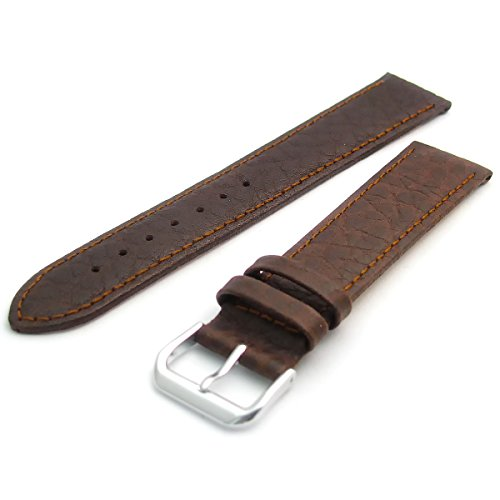Leather Watch Strap Band Camel Grain XL Extra Long by CONDOR 20mm Brown S 051L from Condor