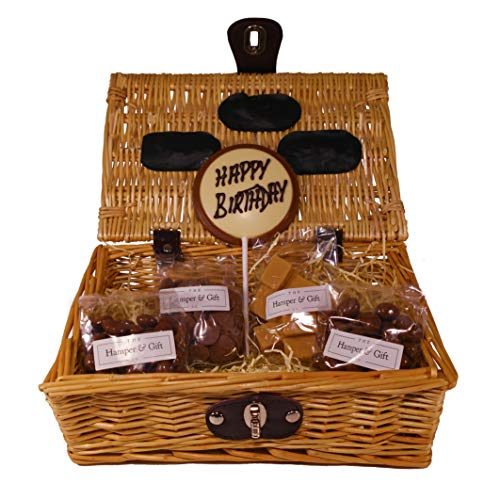 'Happy Birthday' Chocolate & Fudge Hamper Gift Basket - Perfect Confectionery Present for Him or Her, Husband or Wife, Boyfriend or Girlfriend, Son or Daughter from Confectionery Hampers & Gifts