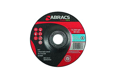 Connect Consumables Connect Workshop Consumables 32053 Abracs Metal Grinding Discs 125mm x 6.0mm Pack 10 from Connect Consumables
