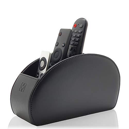 Remote Control Holder Black, 5 Compartments for TV, DVD, Gadgets & Remotes – CEG-10 by Connected Essentials from Connected Essentials