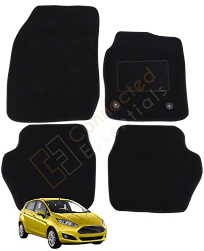Fully Tailored Deluxe Car Mats, Set of 4, Black With Black Trim (Replacement for part 1947554), 5003915 by Connected Essentials from Connected Essentials