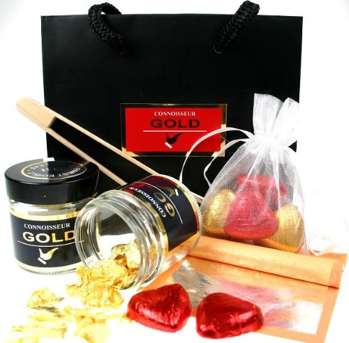 Speical Genuine 23ct Edible Gold Gift Set from Connoisseur Gold