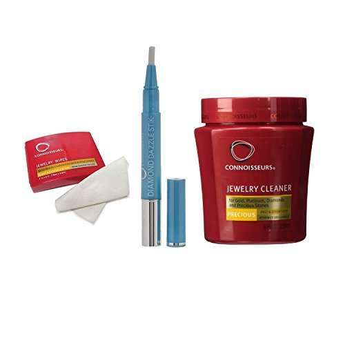 Connoisseurs Jewelry Cleaner Pack. Precious. 236 ml + 25 Wipes + Stick Diamonds from Connoisseurs