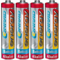 Conrad Energy 658022 Extreme Power Alkaline AAA Battery x4 from Conrad Energy