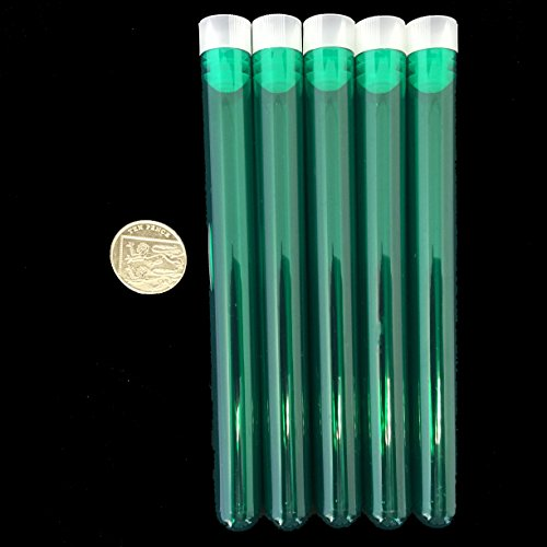 Plastic Test Tubes 150 X 16mm For Shots,Wedding Favours,With Cap, Kryptonite Green, 5 Pieces from Consumables Direct