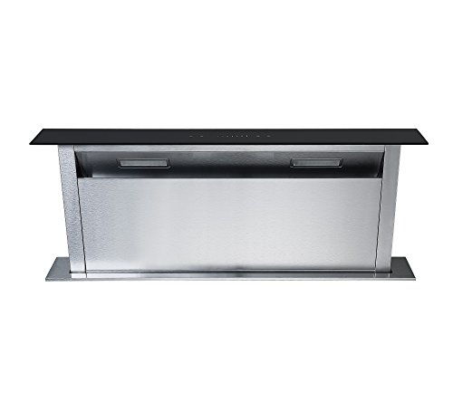Cookology CDD900BK | 90cm Kitchen Downdraft Extractor Fan in Black, LED Light from Cookology