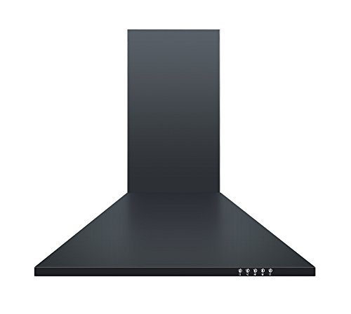 Cookology CH600BK 60cm Chimney Cooker Hood in Black | Unbranded Kitchen Extractor Fan from Cookology