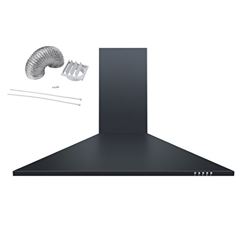 Cookology CH900BK 90cm Chimney Cooker Hood Extractor Fan in Black with Ducting Kit from Cookology