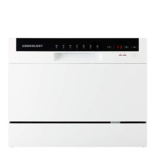 Cookology Mini Counter top, Tabletop Dishwasher, 6 place settings (White) from Cookology